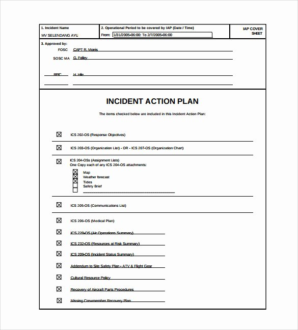8 Incident Action Plan Templates