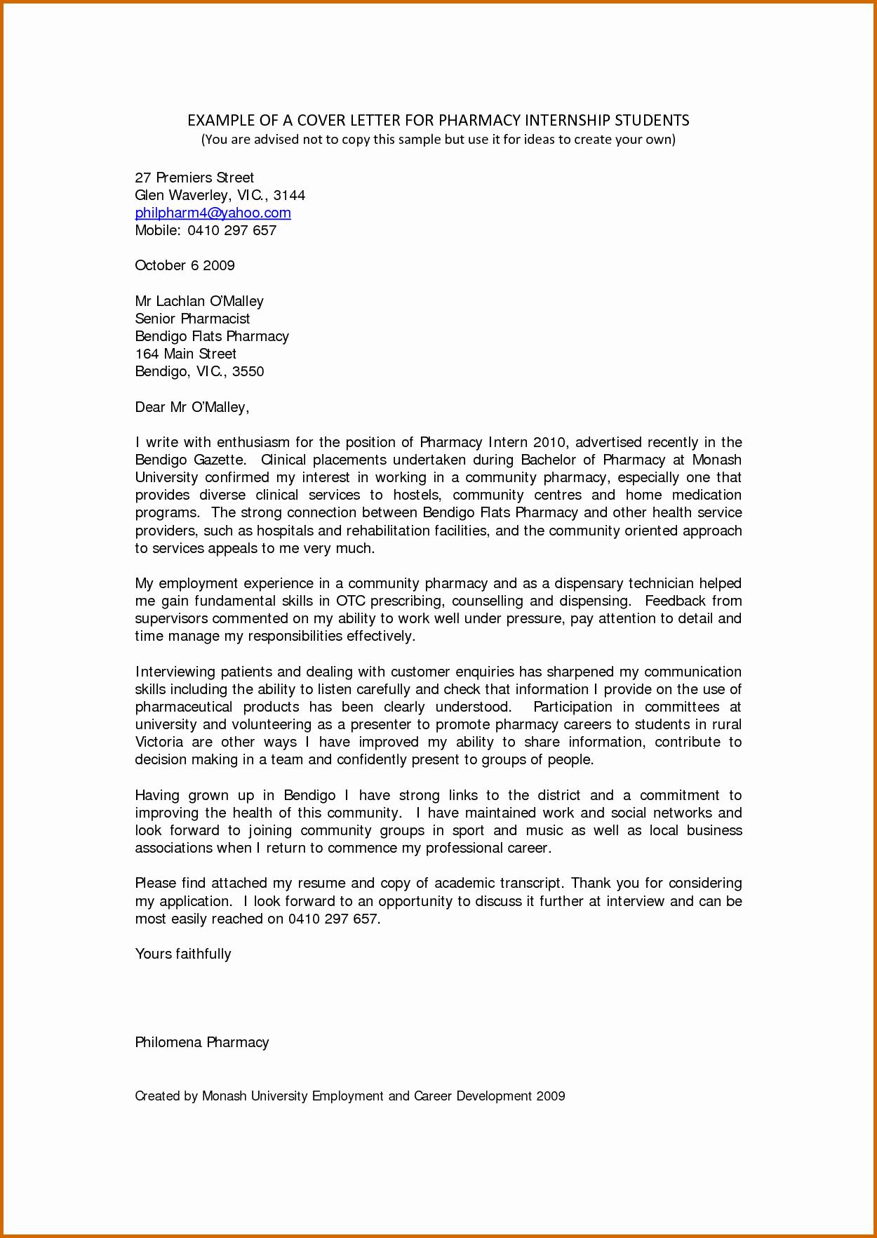 8 Internship Letter for Students