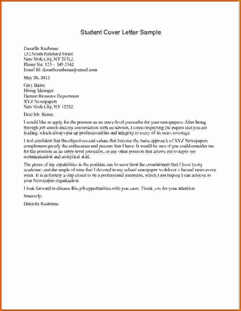 8 Internship Letter for Students