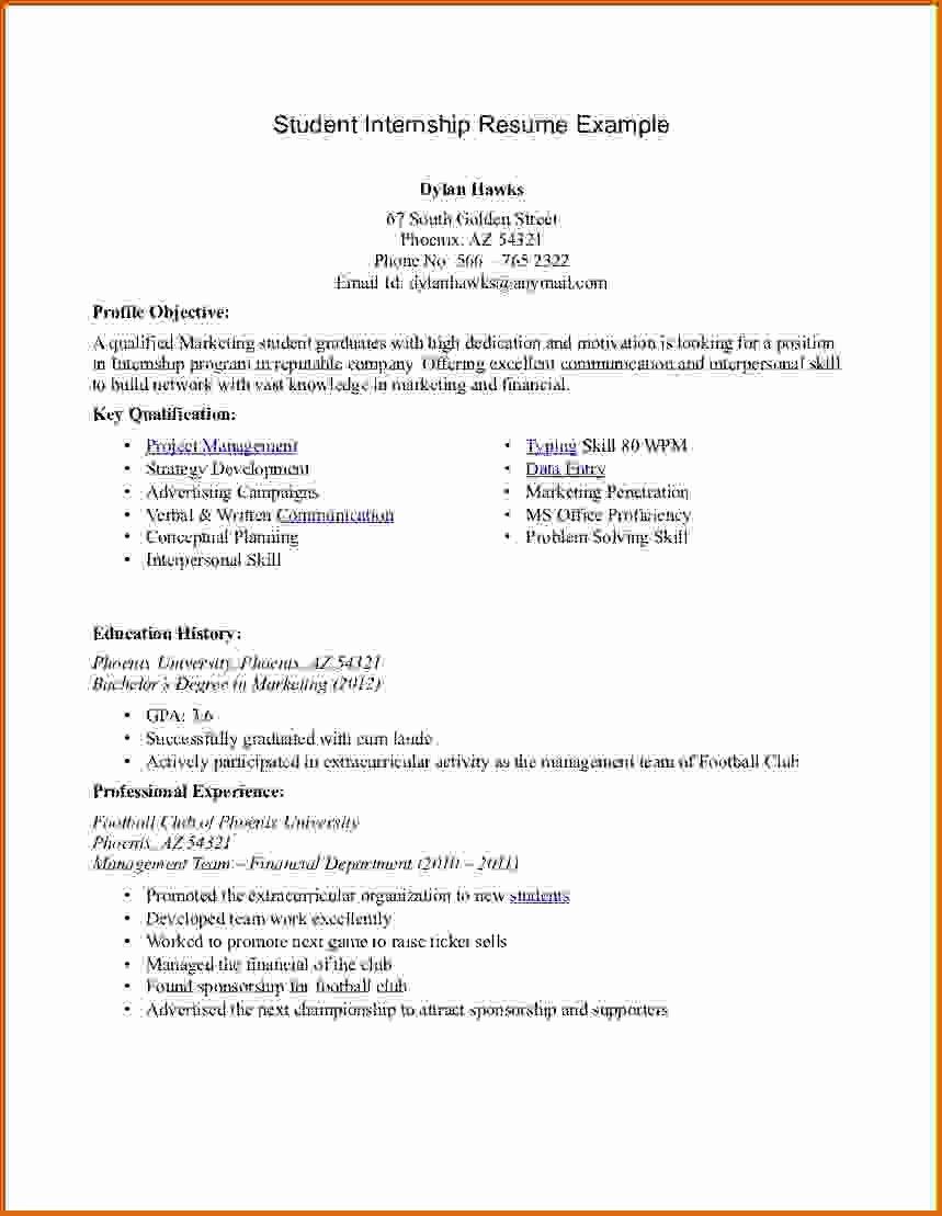 8 Internship Resume Template