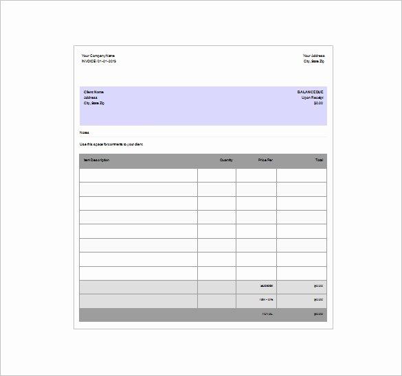 8 Invoice Receipt Templates Doc Pdf