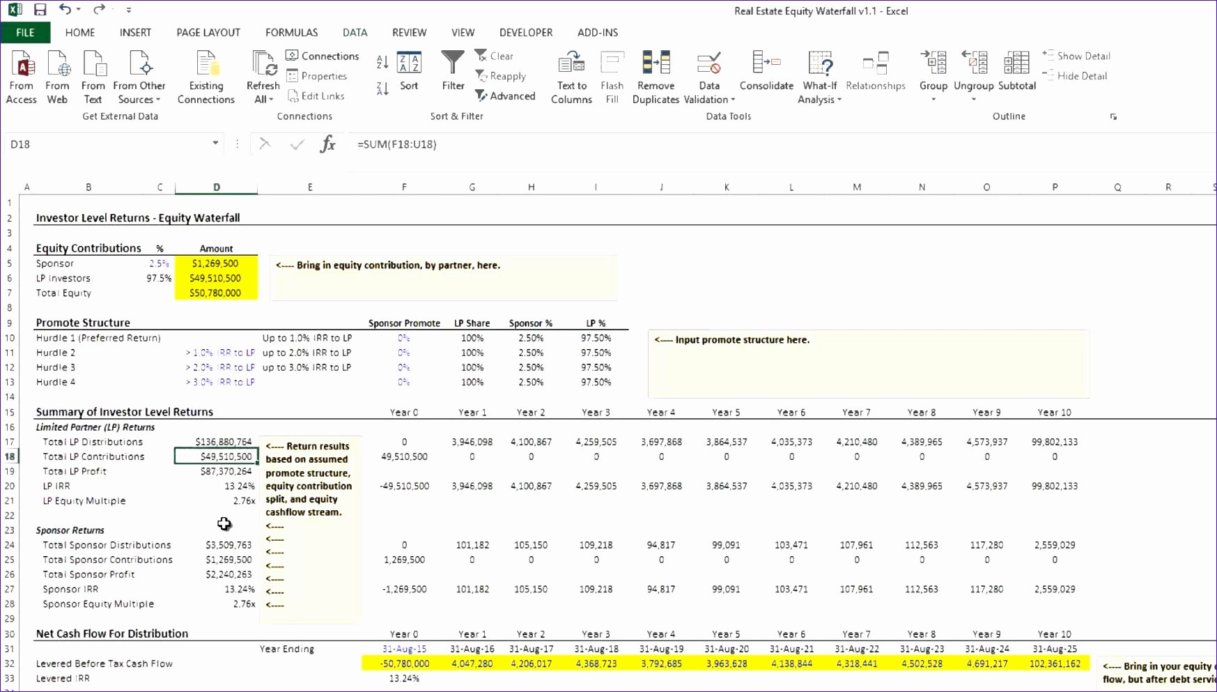 8 Irr Calculator Excel Template Exceltemplates