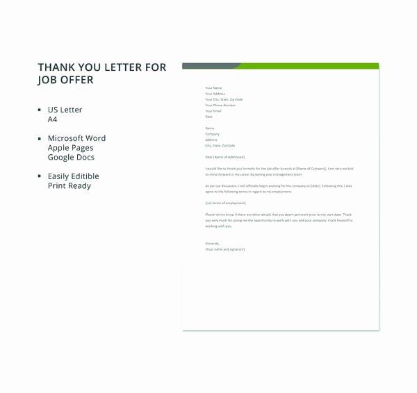8 Job Fer Thank You Letter Templates Pdf Doc Apple