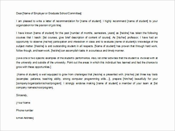 8 Job Re Mendation Letter Templates Doc