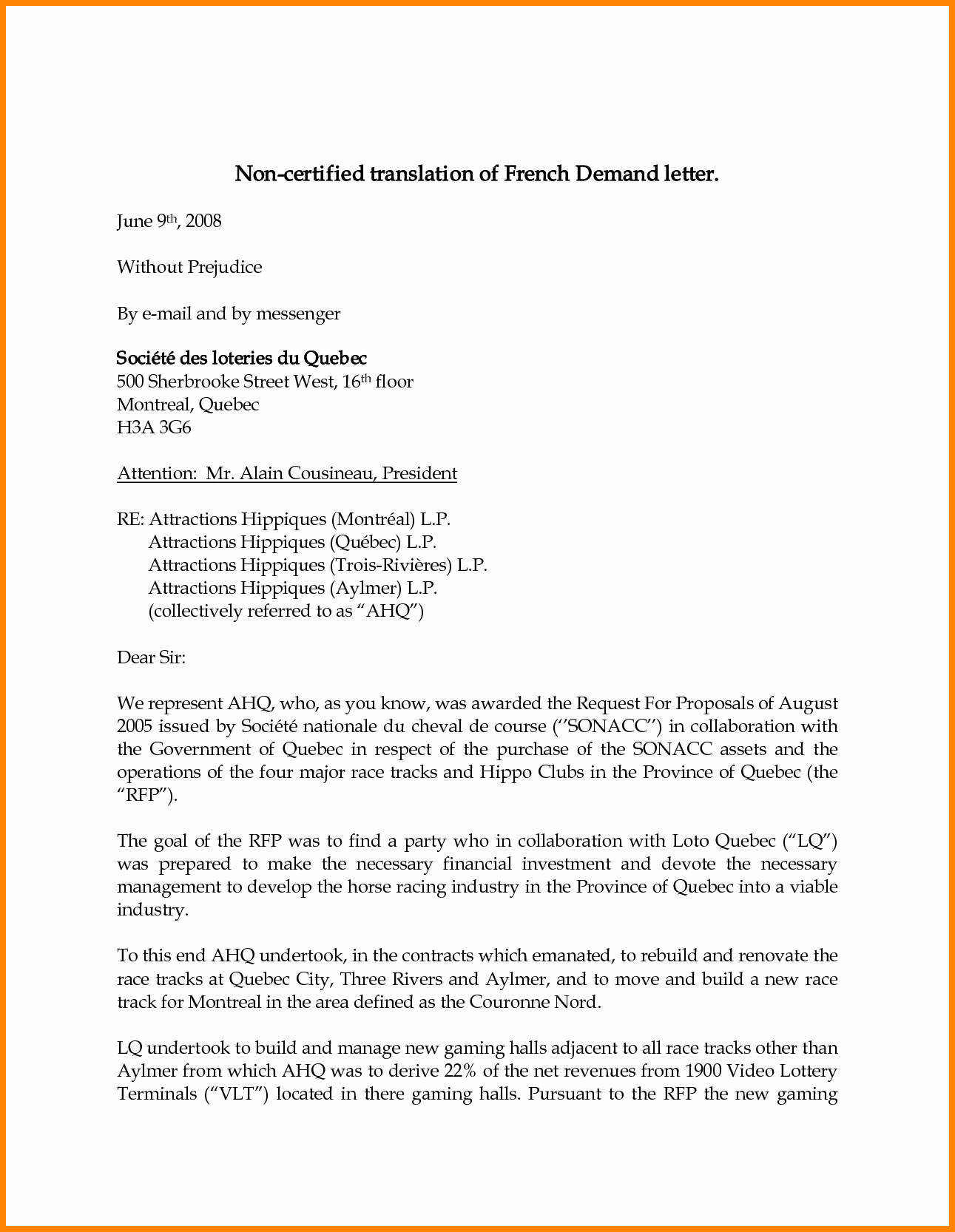 8 Legal Demand Letter Template