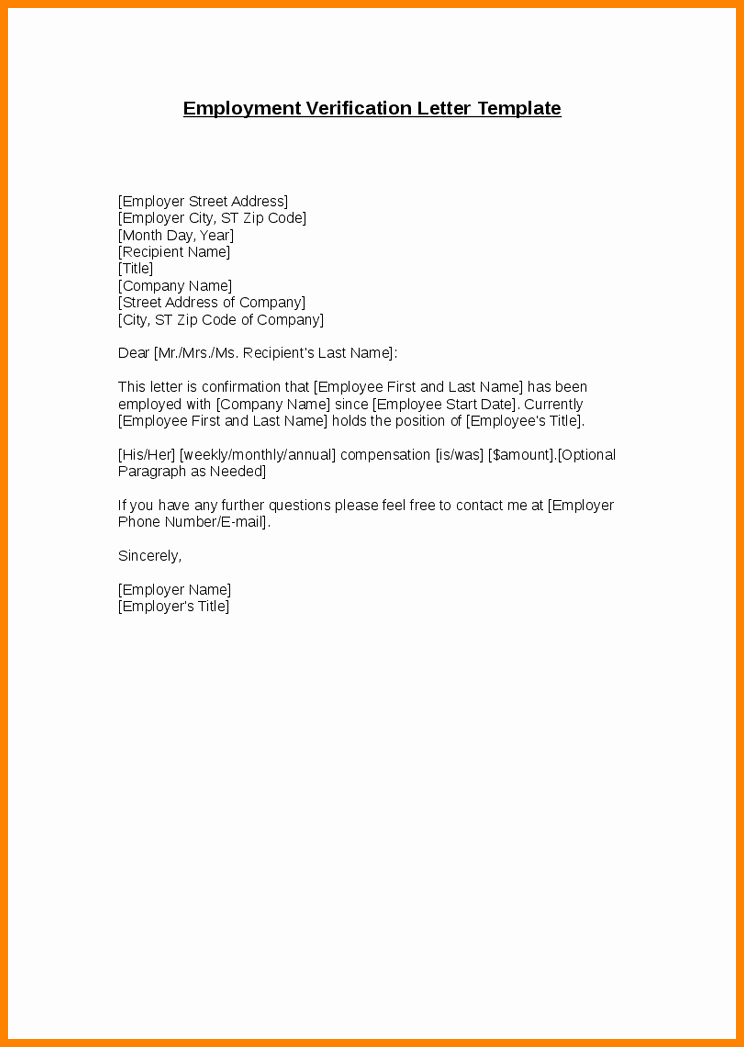 8 Letter for Confirmation Of Employment