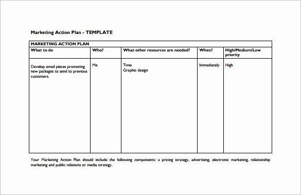 8 Marketing Action Plan Templates Doc Pdf