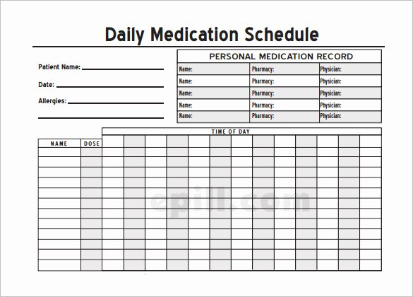 8 Medical Schedule Template Doc Pdf