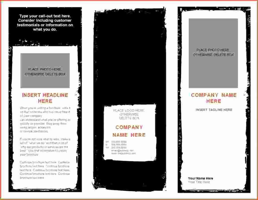 8 Microsoft Word Brochure Template Bookletemplate