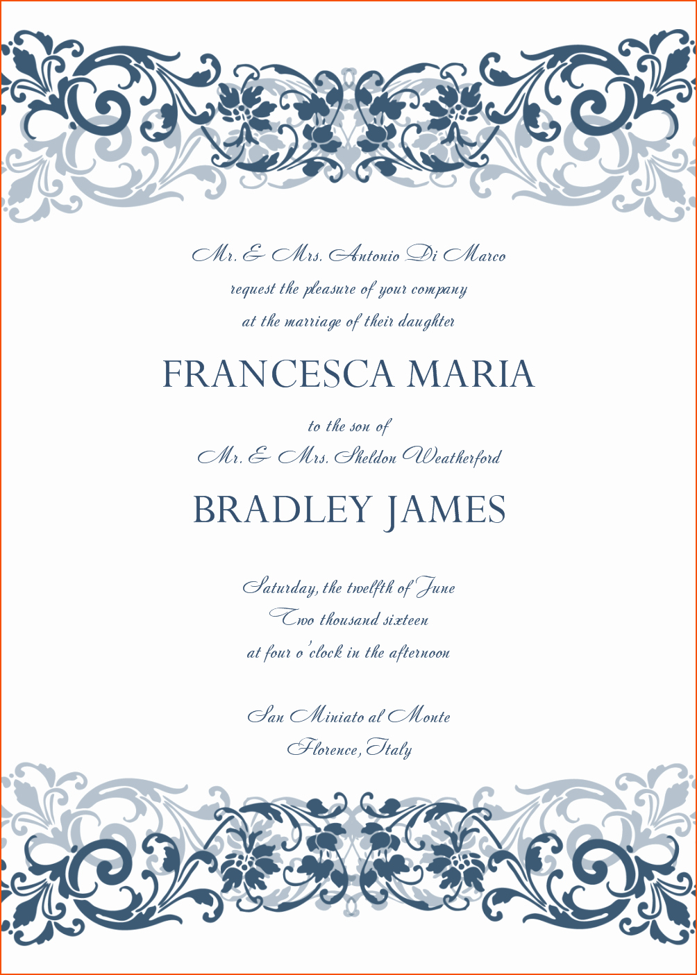 8 Microsoft Word Wedding Invitation Templates