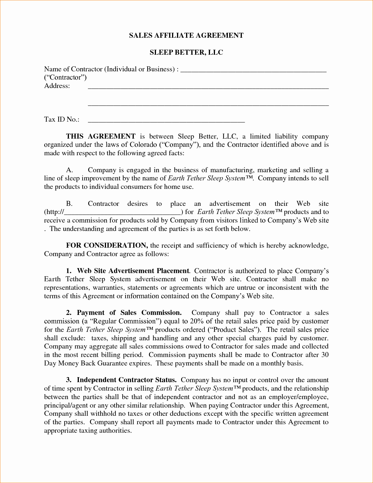 8 Mission Agreement Template