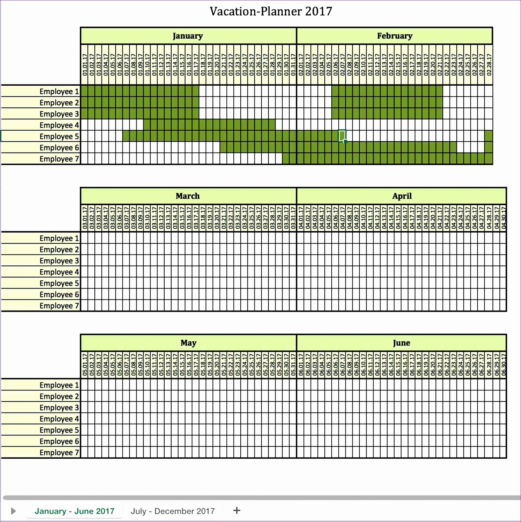 8 Monthly Employee Work Schedule Template Excel