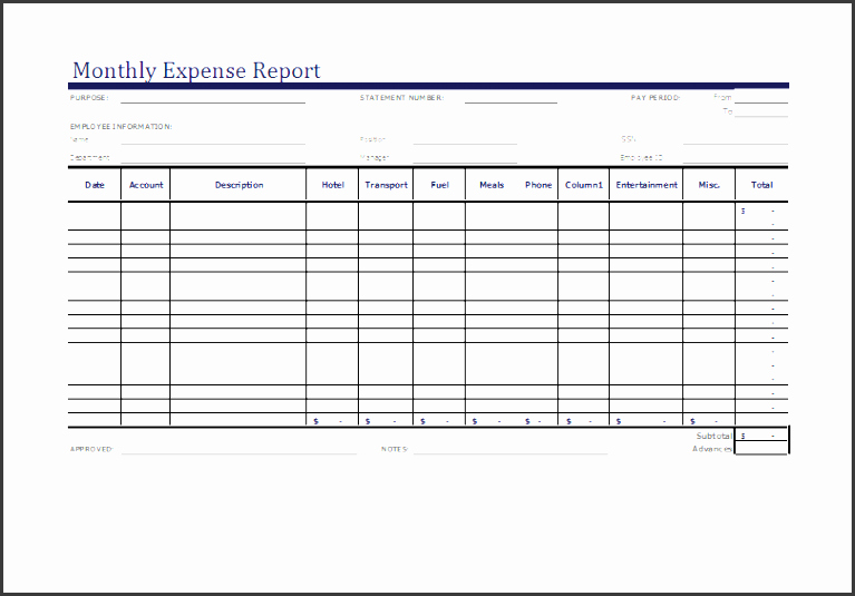 8 Monthly Report format Template Editable