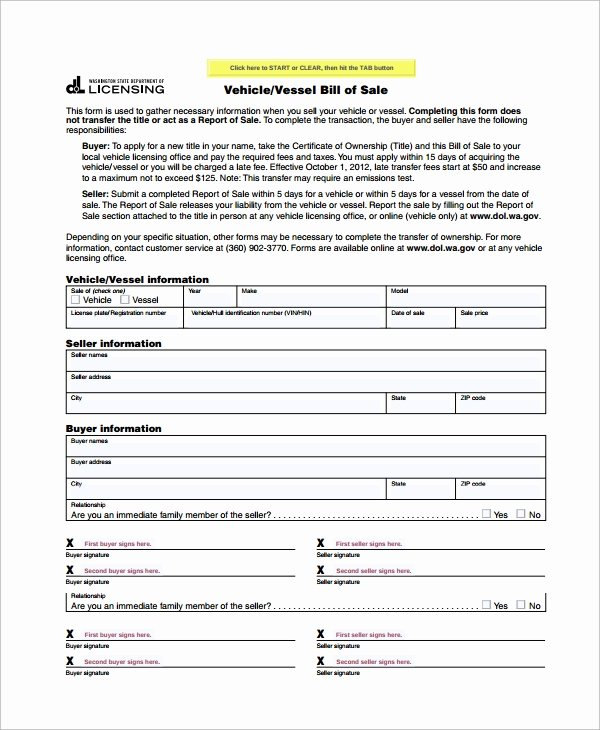 8 Motorcycle Bill Of Sale Templates