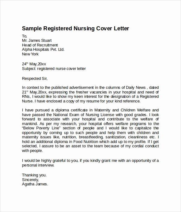8 Nursing Cover Letter Templates to Download
