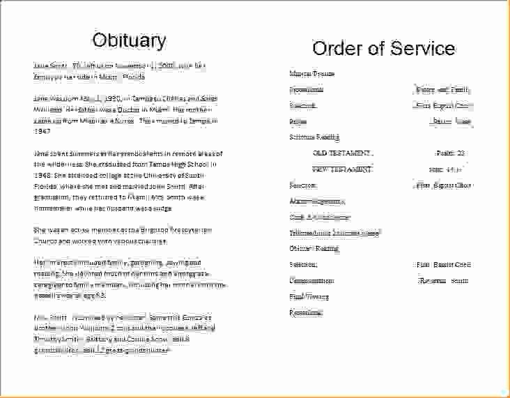 8 Obituary Template for Microsoft Wordagenda Template