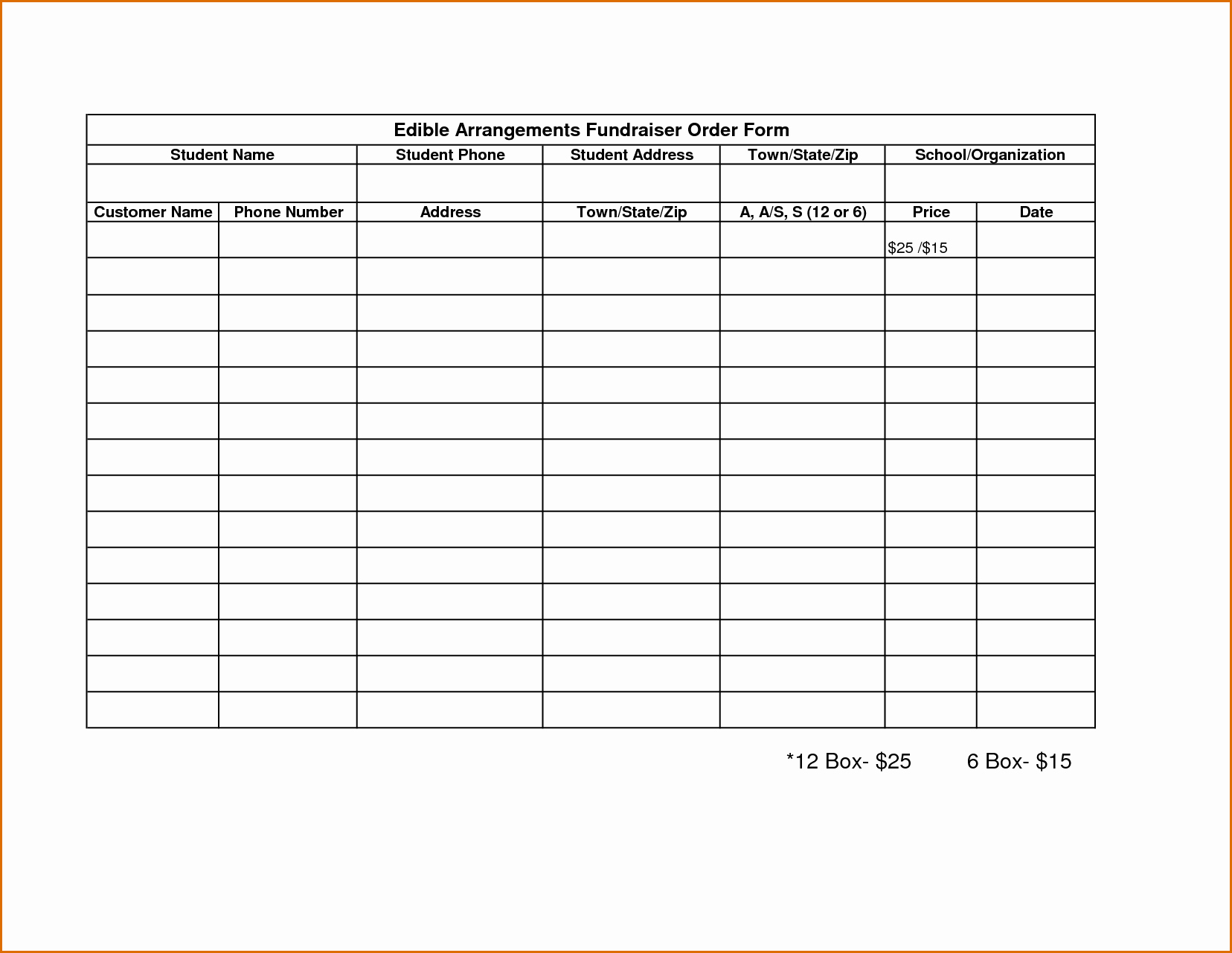 8 order forms Template