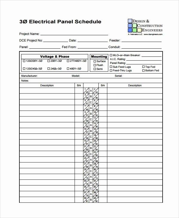 8 Panel Schedule Templates