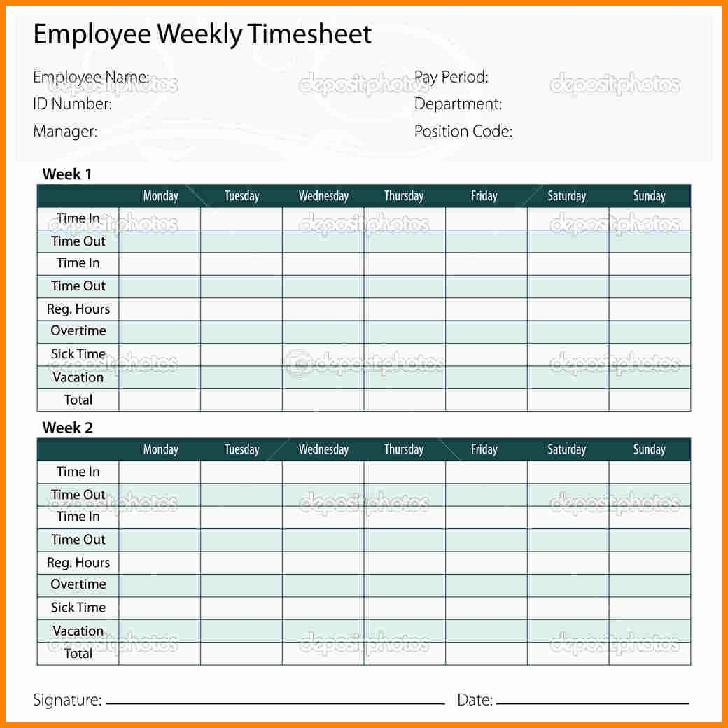 8 Payroll Timesheet Template