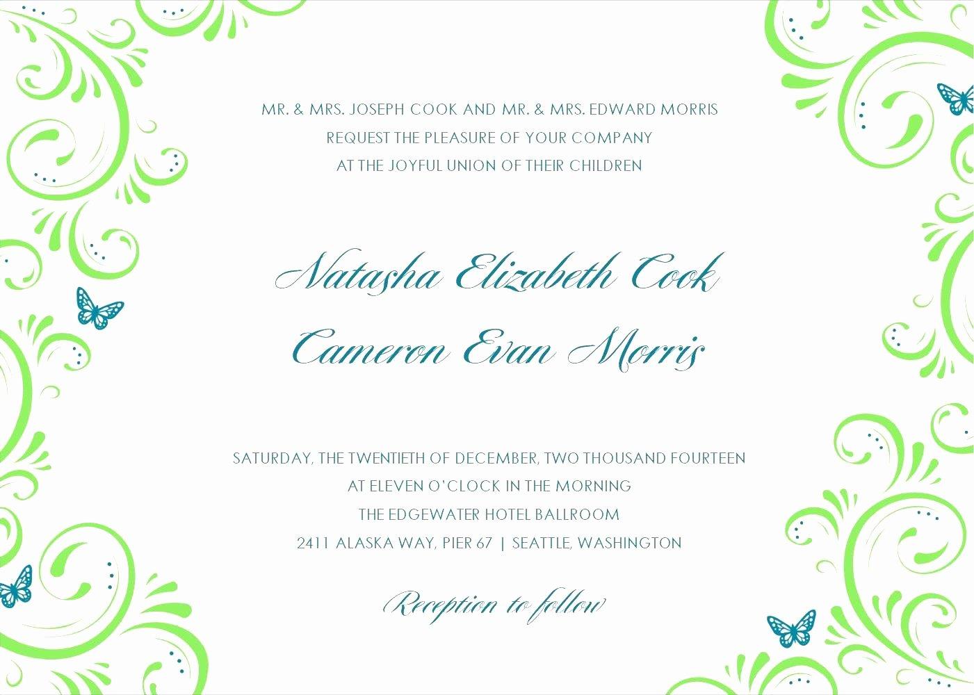 8 Perfect Ficial Invitation Card Templates Ebookzdb