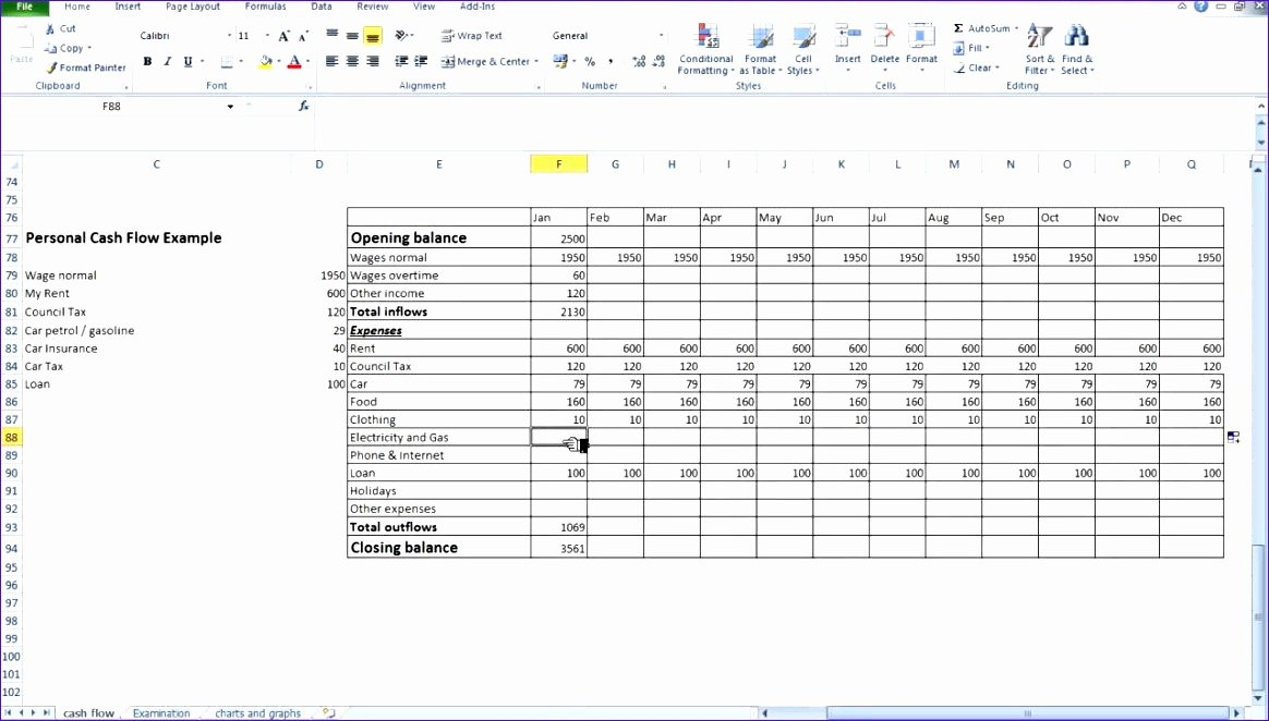 8 Personal Cash Flow Statement Template Excel