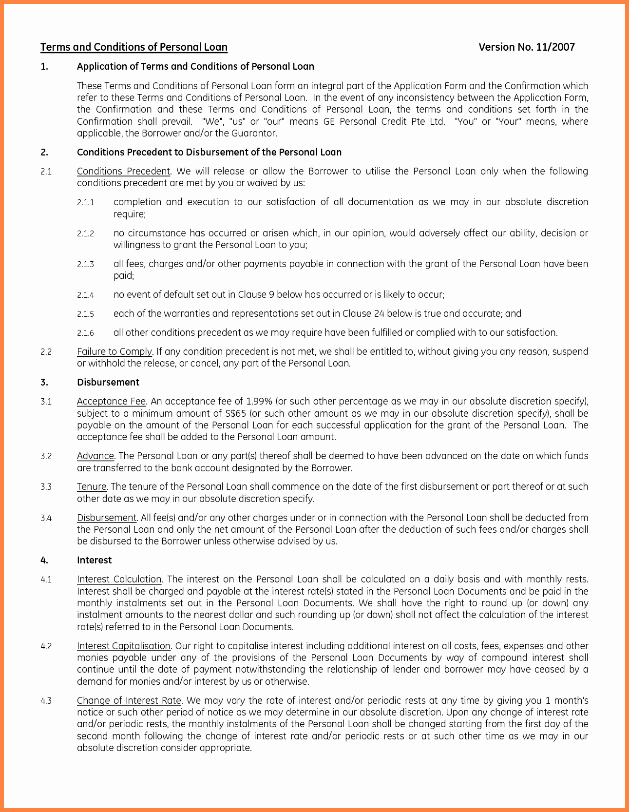8 Personal Loan Agreement Template Microsoft Word