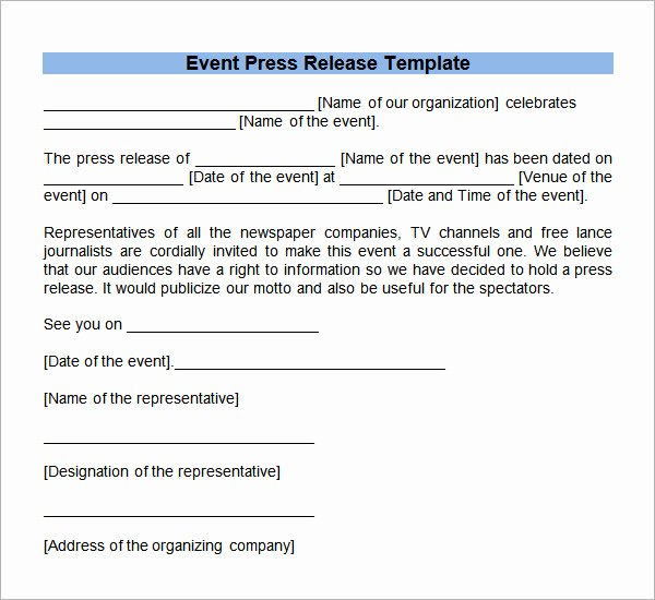 8 Press Release Templates