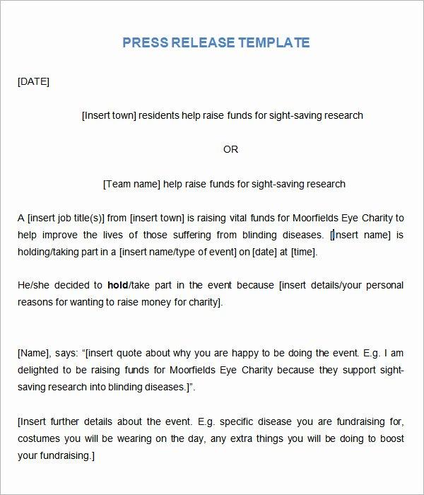 8 Press Release Templates