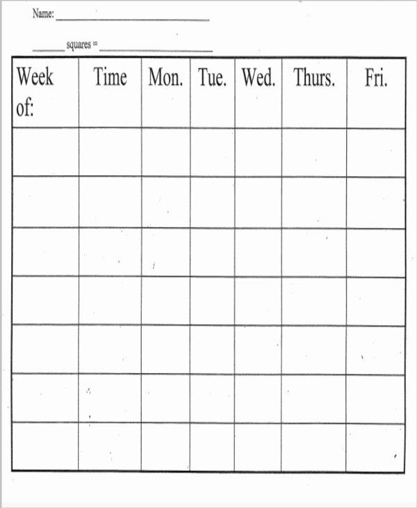 8 Printable Behavior Chart Template 9 Free Word Pdf