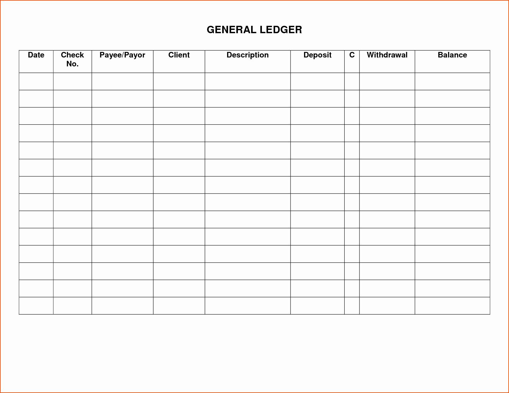 8 Printable Ledger Bookletemplate