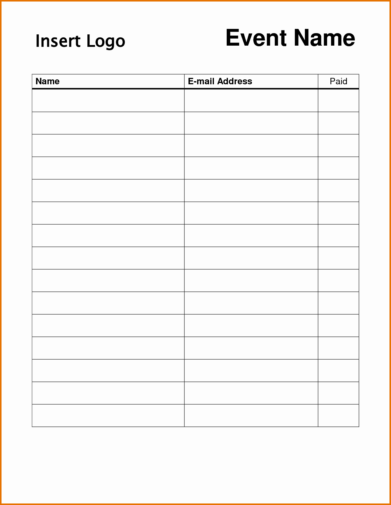 8 Printable Sign Up Sheet Templatereference Letters Words