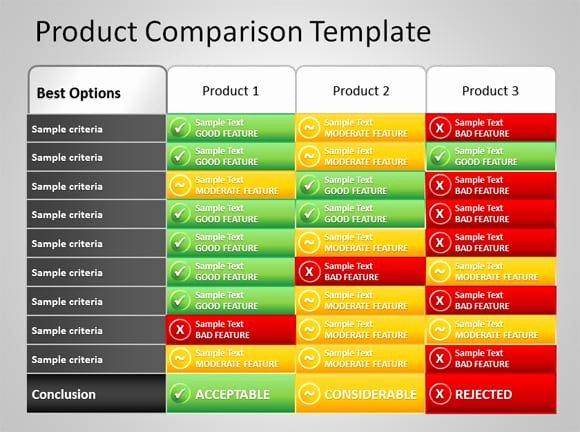 8 Product Parison Templates Excel Excel Templates