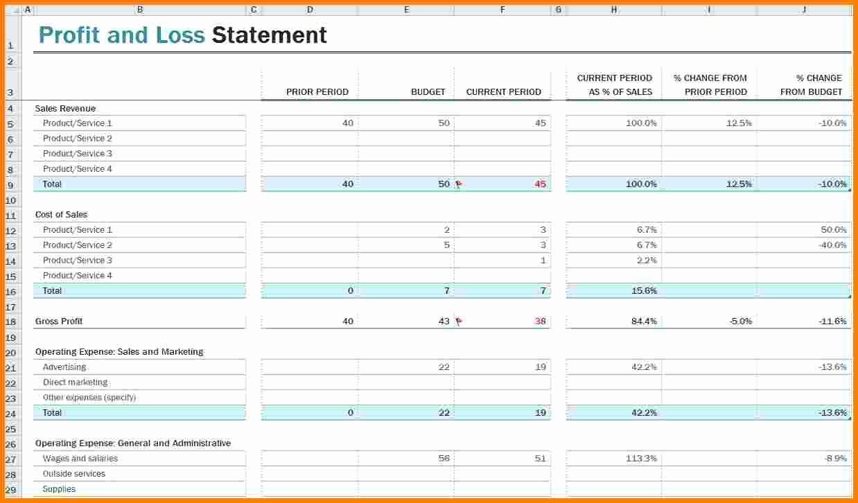 8 Profit Loss Statement Template