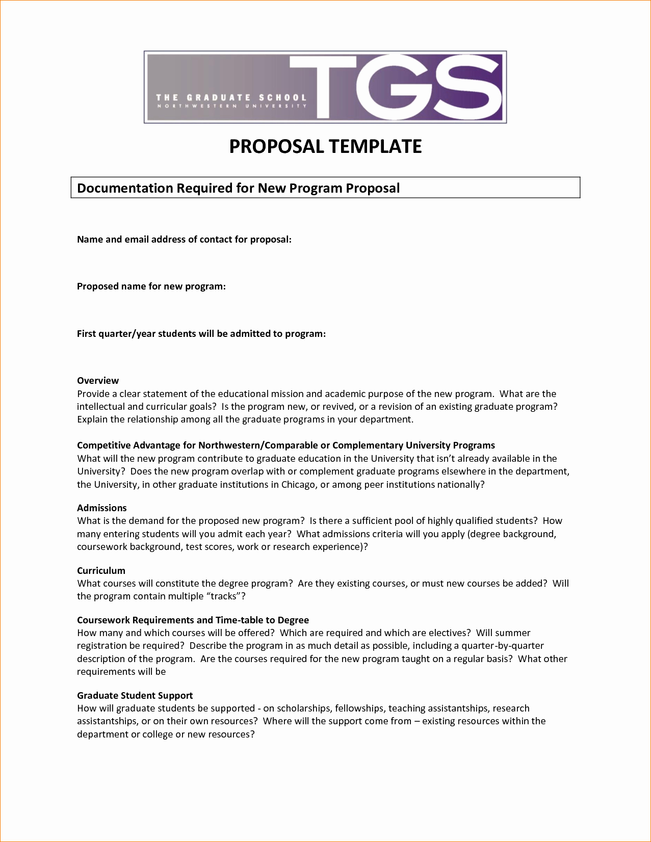 8 Program Proposal Template