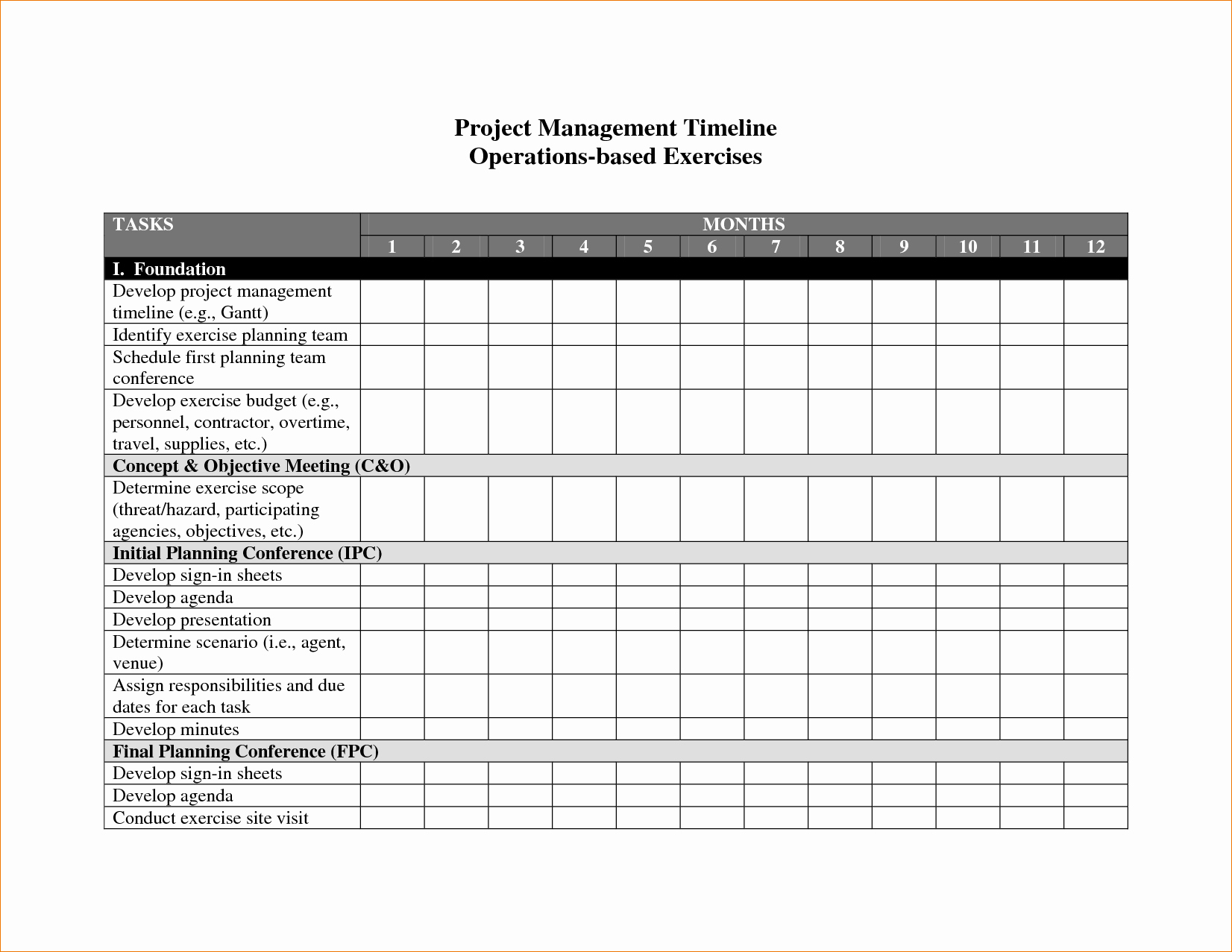 8 Project Management Timeline Template
