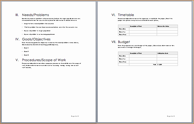 8 Project Proposal Template Word