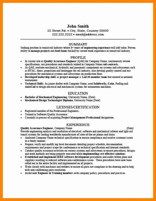8 Qa Engineer Resume