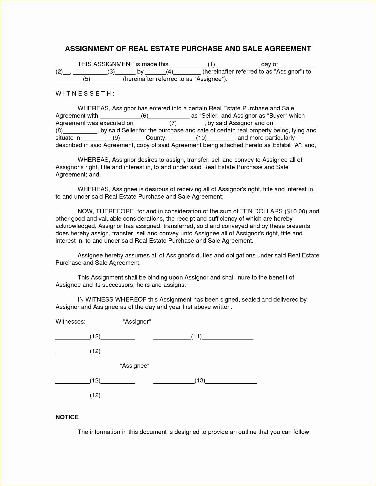 8 Real Estate Sales Contract Template