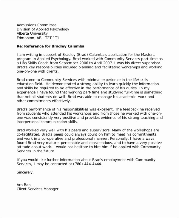8 Reference Letter for Teacher Templates Free Sample