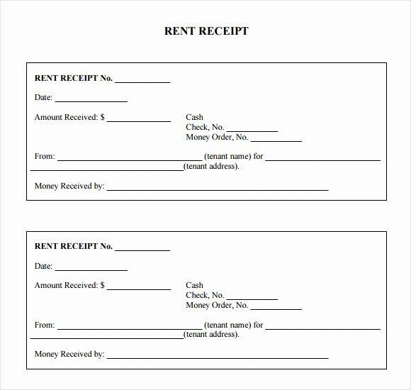 8 Rent Receipt Templates – Free Samples Examples & format