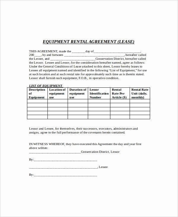 8 Rental Lease Templates Free Sample Example format