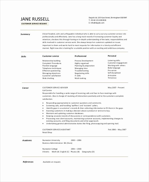 8 Resume Summary Samples Examples Templates