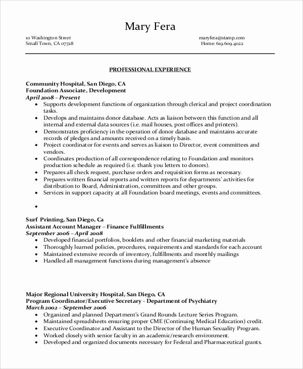 8 Sample Administrative assistant Resumes