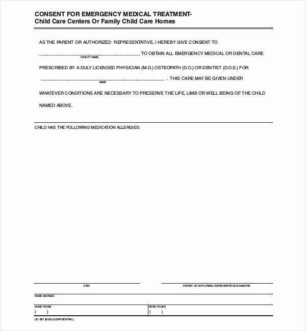 8 Sample Child Medical Consent forms