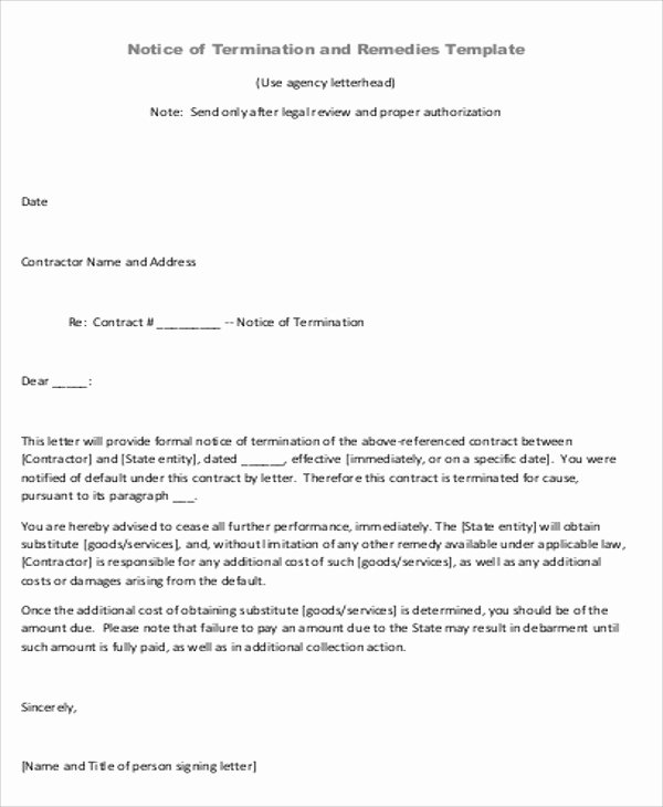 8 Sample Contract Agreement Letters