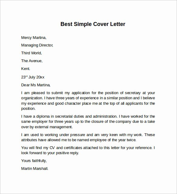 8 Sample Cover Letter Templates to Download