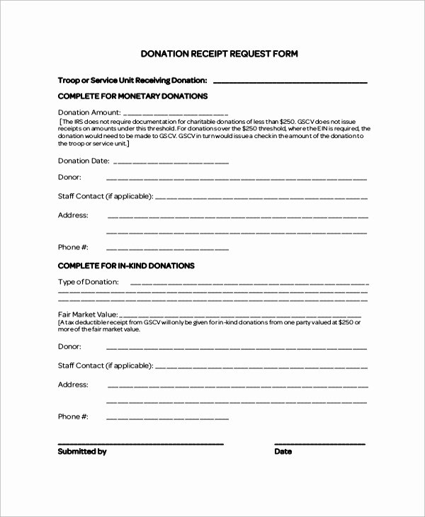 8 Sample Donation Receipt Letters