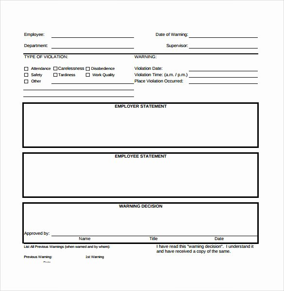 8 Sample Employee Write Up forms