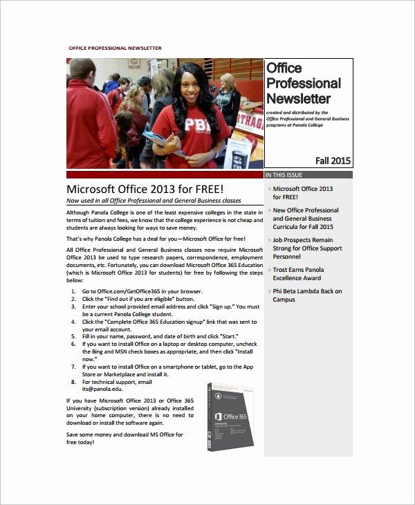 8 Sample Fice Newsletters