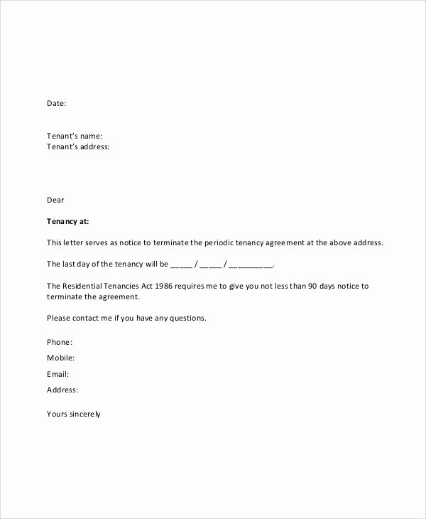 8 Sample Lease Termination Letters